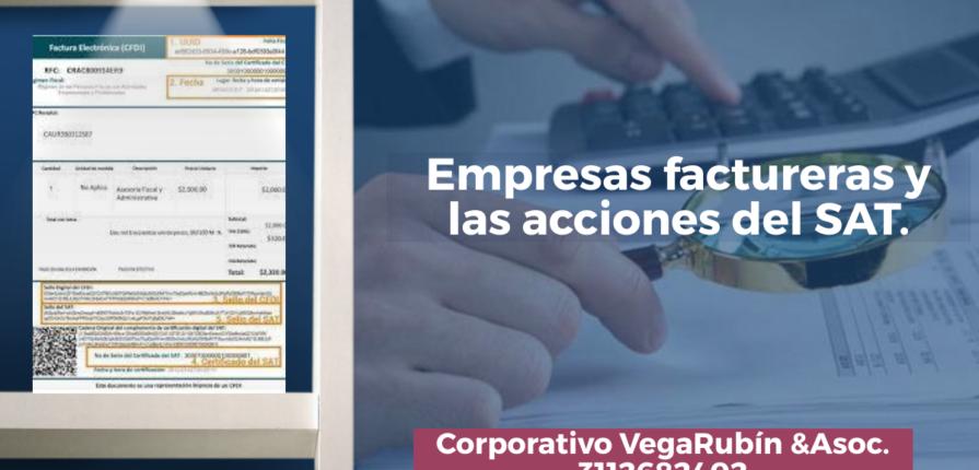 Empresas factureras y las acciones del SAT.